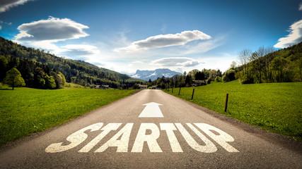 Fototapete - Schild 401 - Startup