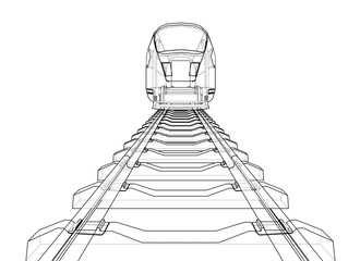 Modern speed train concept. Vector