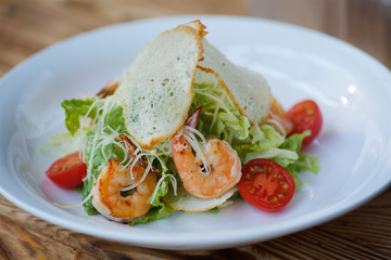 Seafood and vegetable salad
