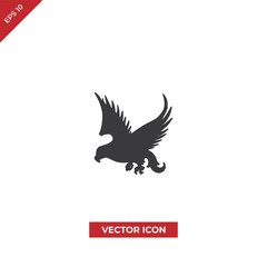 Falcon bird vector icon