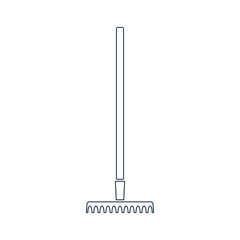 Rake Line Icon.Vector design