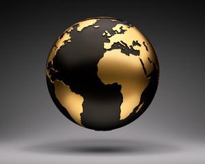 Gold-Schwarzer Globus