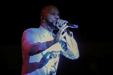 Rapper Common performs  at the election night party for California's newly elected governor Gavin Newsom in Los Angeles, California