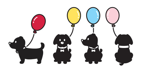 dog vector french bulldog balloon icon puppy cartoon character illustration logo doodle