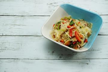 Spicy vermicelli salad thai food