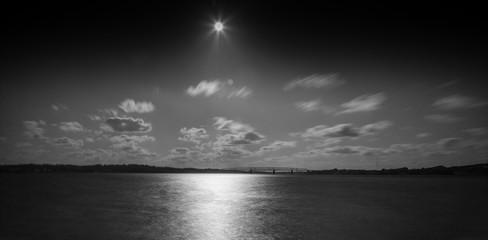 Bridge in Denmark black and white