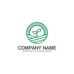 Agriculture or green farm logo design template