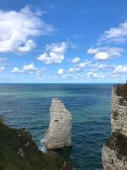 Rocce della scogliera di Étretat, Normandia, Francia
