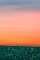 Multicolored sky background with light trails