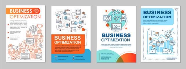 Business optimization brochure template layout