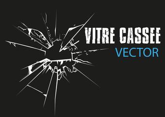 VITRE VERRE CASSEE - vectoriel