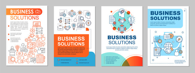 Business solutions brochure template layout