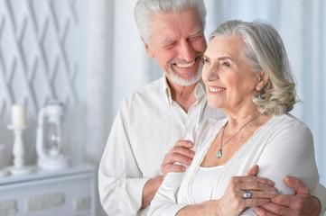 Portrait of a happy senior couple posing