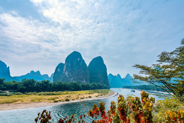 Yangshuo landscape in guilin, China, day scenery
