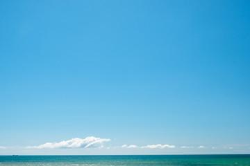 Beautiful blue sky and cloud over the sea.