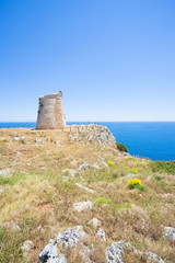 Minervino, Apulia - Hiking on the cliffs at Torre Minervino