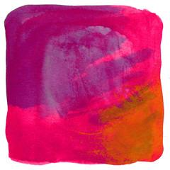 Bunte Wasserfarbe bildet quadratische Textur