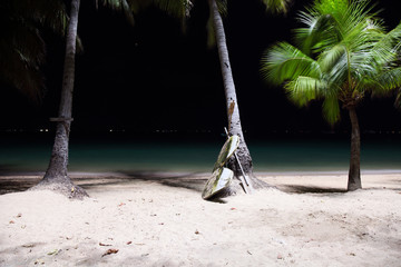 Pataya beach by night, Thailand
