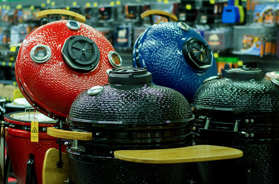 Outdoor Grills for sale in the store.