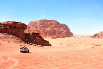 Jeep safari in Wadi Rum desert, Jordan