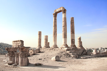 Temple of Hercules in Amman Citadel, Amman, Jordan