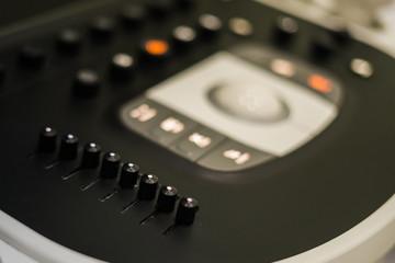 close up ultrasound machine, medical equipment in hospital