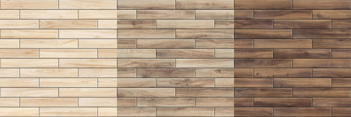 Set of high resolution seamless textures. Wooden parquet patterns