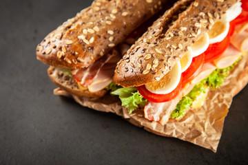 Fotoväggar - Classic BLT sandwiches