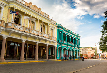 Colonial buildings in Santa Clara, Cuba