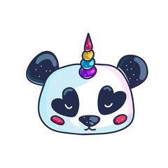 Cute little pandicorn