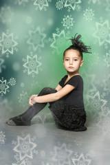 Little girl ballerina