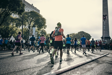 Marathon runners in city - Semi-Marathon Marseille Cassis 2018	 Wall mural