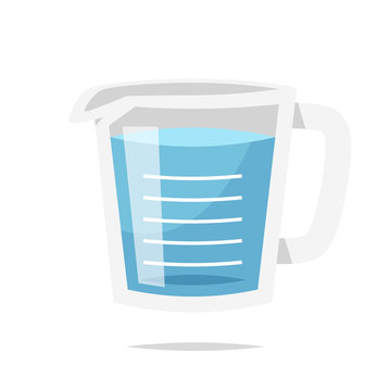 Measuring cup vector isolated