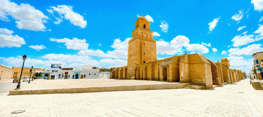 Great Mosque in Kairouan. Tunisia, North Africa