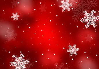 Beautiful red background for christmas and winter season.