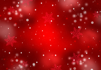 Festive snowflakes red background.