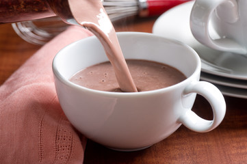 Fotobehang Chocolade Hot Chocolate Pour