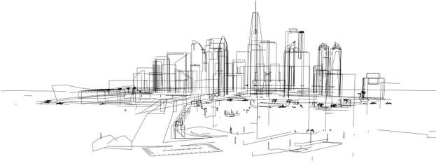 city buildings vector illustration