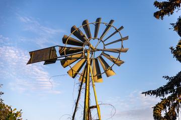 Moulin à vent rétro