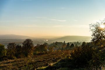 Vue sur un paysage de campagne en Lorraine