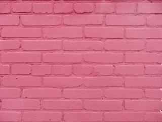 pink brick wall