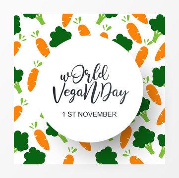 World vegan day 1 november