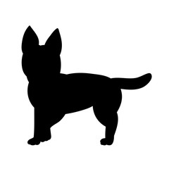 black silhouette of a dog