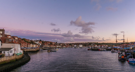 Harbor  of Whitby, North Yorkshire, England