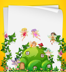 Fairy at the hill house template