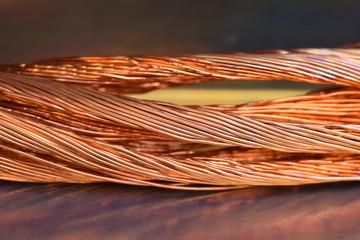 Closeup of copper wire