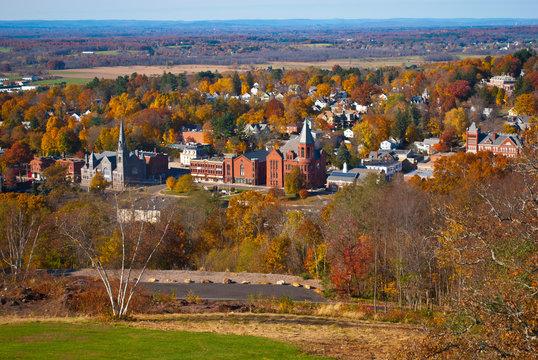 Scenic Vernon and Ellington CT Fall View