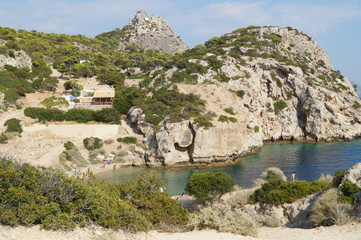 Bay among the mountains