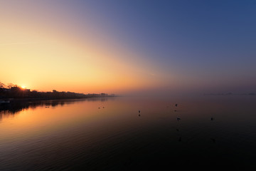 Herbstmorgen am Unteruckersee