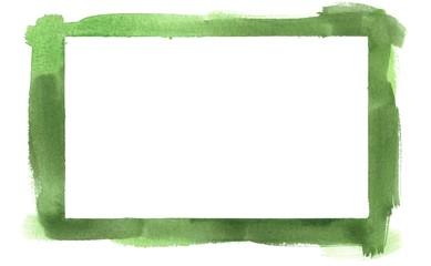 Green Watercolor Border Frame